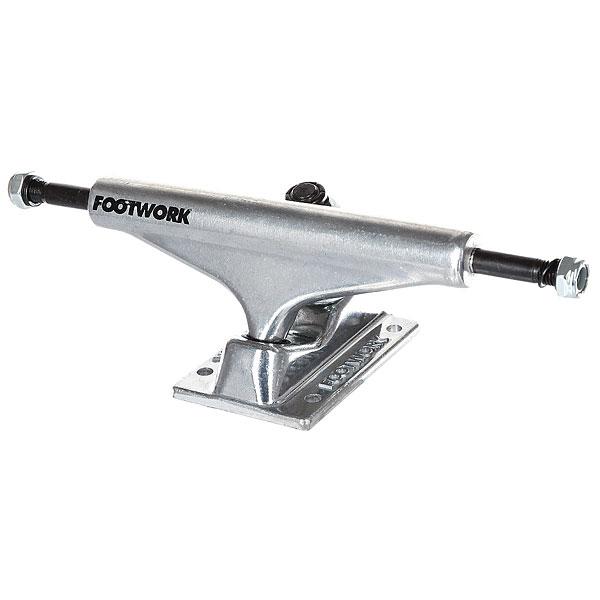 Подвески для скейтборда для скейтборда 2шт. Footwork Block Raw 5.375 (20.6 см)Ширина подвесок: 5.375 (20.6 см)    Высота подвесок: 54 мм    Цена указана за 2 шт<br><br>Цвет: серый<br>Тип: Подвески для скейтборда<br>Возраст: Взрослый<br>Пол: Мужской