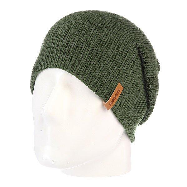 Шапка носок Footwork Champ Army Green99% акрил 1% спандекс универсальная теплая шапка носить с подворотом и без отлично тянется и не теряет форму широкая но в тоже время плотная вязка приятный на ощупь материал тисненный логотип на кожанном лейбле<br><br>Цвет: зеленый<br>Тип: Шапка носок<br>Возраст: Взрослый<br>Пол: Мужской