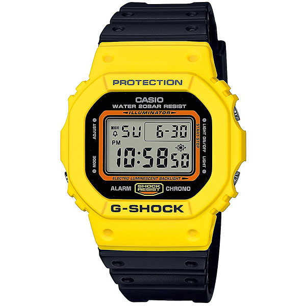 Электронные часы Casio G-Shock Dw-5600tb-1e Black/Yellow часы g shock dw 5600hr 1e casio