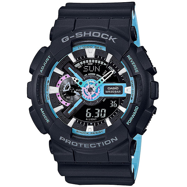 Электронные часы Casio G-Shock Ga-110pc-1a Black/Light Blue casio g shock ga 150 1a