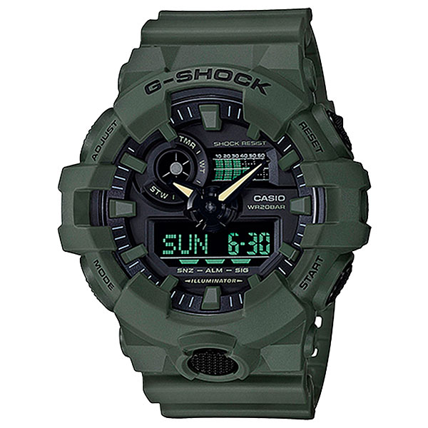 Электронные часы Casio G-Shock Ga-700cm-3a Green casio часы g shock ga 110nm 3a