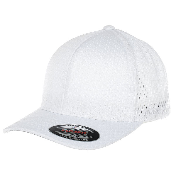 Бейсболка классическая Neff Flexfit/Yupoong White