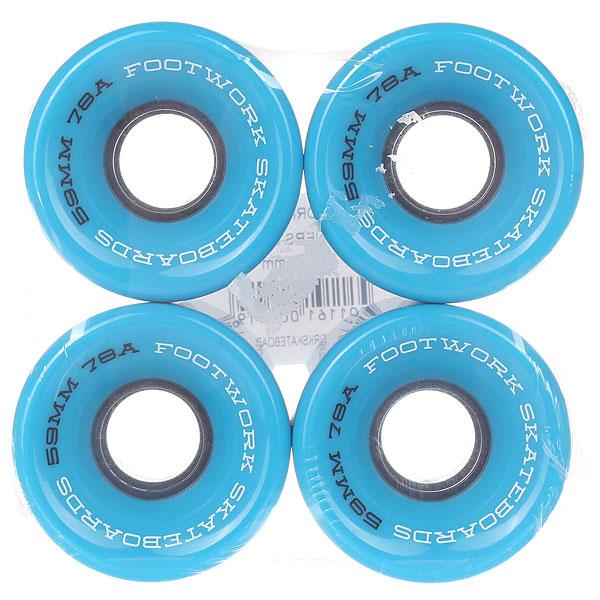 Колеса для скейтборда для лонгборда Footwork Road Runners Cyan 78A 59 mm колеса для скейтборда для лонгборда eastcoast shelby white 78a 65 mm