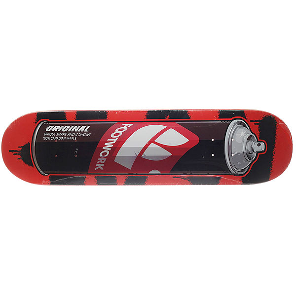 Дека для скейтборда для скейтборда Footwork Original Spray 31.875 x 8.125 (20.6 см) дека для скейтборда для скейтборда footwork progress artist series globe 31 875 x 8 125 20 6 см