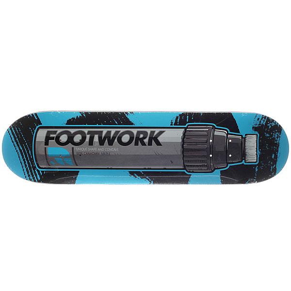 Дека для скейтборда для скейтборда Footwork Original Marker 31.6 x 8 (20.3 см)Ширина деки: 8 (20.3 см)    Длина деки: 31.6 (80.3 см)    Количество слоев: 7<br><br>Цвет: черный,серый,голубой<br>Тип: Дека для скейтборда<br>Возраст: Взрослый<br>Пол: Мужской