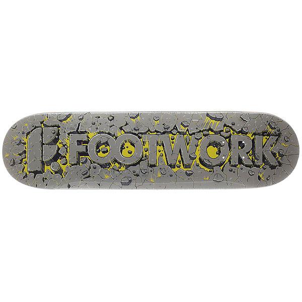 Дека для скейтборда для скейтборда Footwork Original Explosion 32.1 x 8.375 (21.3 см)Ширина деки: 8.375 (21.3 см)    Длина деки: 32.1 (81.5 см)    Количество слоев: 7<br><br>Цвет: серый,желтый<br>Тип: Дека для скейтборда<br>Возраст: Взрослый<br>Пол: Мужской