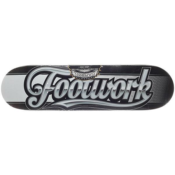 Дека для скейтборда для скейтборда Footwork Carbon Script Black 31.75 x 8.25 (21 см)