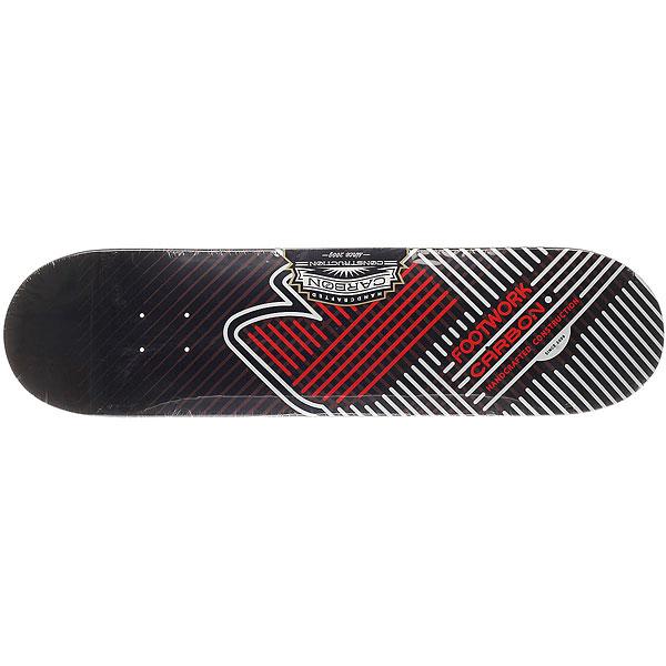 Дека для скейтборда для скейтборда Footwork Carbon Fusion Red 31.6 x 8 (20.3 см)Ширина деки: 8 (20.3 см)    Длина деки: 31.6 (80.3 см)    Количество слоев: 7<br><br>Цвет: черный,красный,белый<br>Тип: Дека для скейтборда<br>Возраст: Взрослый<br>Пол: Мужской