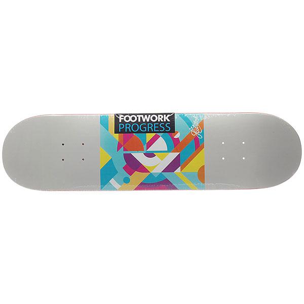 Дека для скейтборда для скейтборда Footwork Progress Vice Grey 31.875 x 8.125 (20.6 см)Ширина деки: 8.125 (20.6 см)    Длина деки: 31.875 (81 см)    Количество слоев: 7<br><br>Цвет: серый,мультиколор<br>Тип: Дека для скейтборда<br>Возраст: Взрослый<br>Пол: Мужской