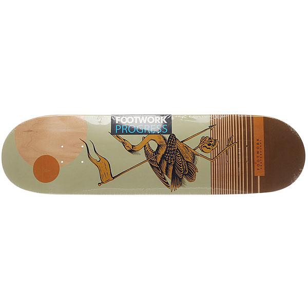 Дека для скейтборда для скейтборда Footwork Progress Artist Series Moon 32.1 x 8.375 (21.3 см)Ширина деки: 8.375 (21.3 см)    Длина деки: 32.1 (81.5 см)    Количество слоев: 7<br><br>Цвет: бежевый,желтый,черный<br>Тип: Дека для скейтборда<br>Возраст: Взрослый<br>Пол: Мужской