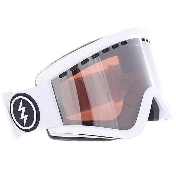 купить Маска для сноуборда Electric Egv Gloss White+bl/Brose/Silver Chrome дешево