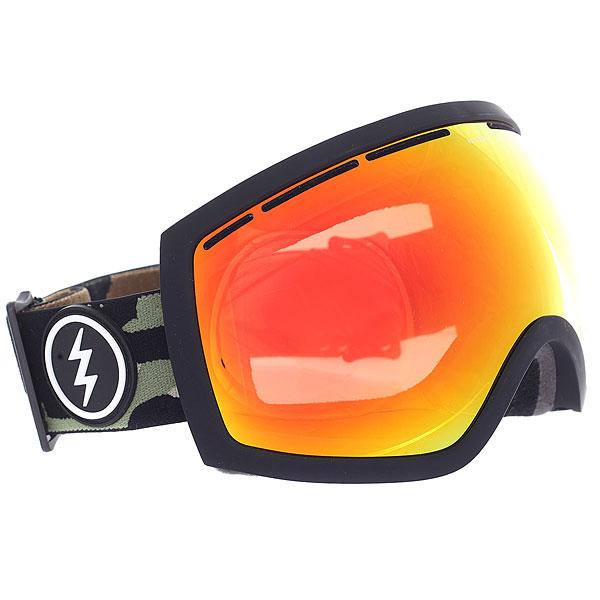 Маска для сноуборда Electric Eg2 Camo+bl/Brose/Red ChromeУдобная сноубордическая маска ELECTRIC EG2, которая обеспечит превосходный обзор без бликов и искажений в любых погодных условиях. Благодаря двойной линзе и продуманной системе вентиляции маска не будет запотевать, а большой размер линзы и уменьшенная оправа обеспечат максимальный угол обзора. Трехслойный вспененный материал с антибактериальным флисовым покрытием обеспечит комфортную посадку, а силиконовые вставки помогут избежать соскальзывание.Характеристики:100% защита от ультрафиолета (UV). Двойные сферические поликарбонатные линзы, крупные. Покрытие, устойчивое к образованию царапин. Противотуманное покрытие. Антибликовое покрытие. Поляризованные линзы. Для расцветок с маркировкой в названии +BL - бонусная линза в комплекте. Эргономичная форма оправы. Ультра-лёгкая и прочная конструкция из термопластичного уретана. Слой из трёхслойного вспененного материала по контуру, эргономично спроектированного под лицо. Регулируемый ремешок, шириной 40 мм. Совместима со шлемами. В комплекте чехол из микрофибры.<br><br>Цвет: черный<br>Тип: Маска для сноуборда<br>Возраст: Взрослый<br>Пол: Мужской