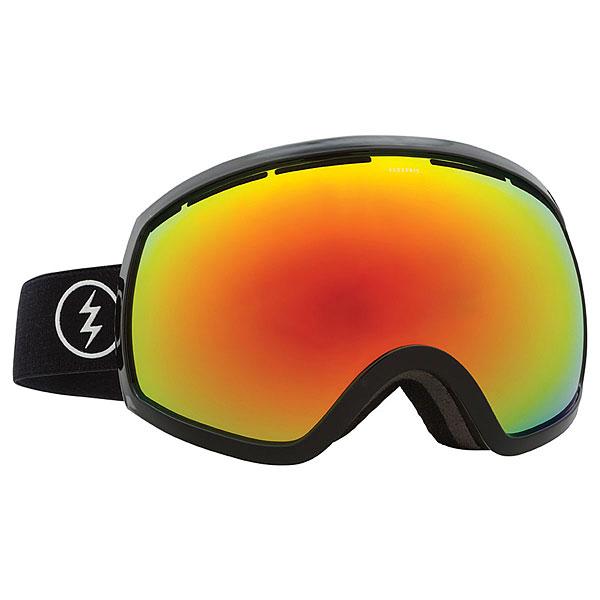 маска для сноуборда electric eg2 dub bronze silver chrome Маска для сноуборда Electric Eg2 Gloss Black+bl/Brose/Red Chrome