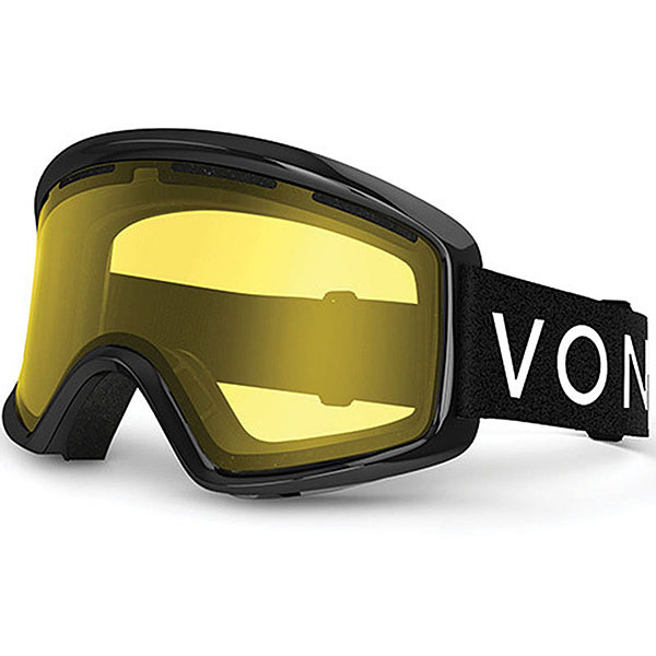 Маска для сноуборда Von Zipper Beefy Black Gloss/Yellow