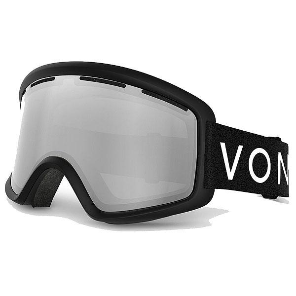 Маска для сноуборда Von Zipper Beefy Black Satin/Grey Chrome<br><br>Цвет: черный<br>Тип: Маска для сноуборда<br>Возраст: Взрослый<br>Пол: Мужской