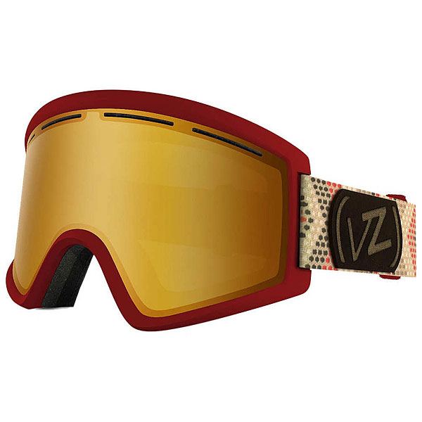 Маска для сноуборда Von Zipper Cleaver John Jackson Red/Copper Chrome