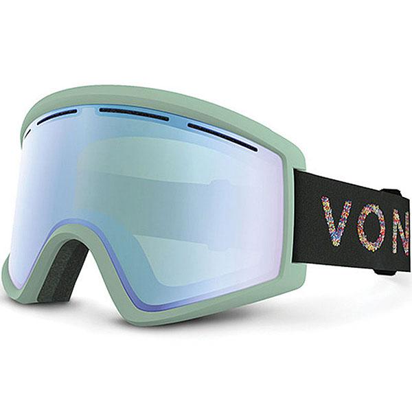 Маска для сноуборда Von Zipper Cleaver Mint/Stellar Chrome<br><br>Цвет: зеленый<br>Тип: Маска для сноуборда<br>Возраст: Взрослый<br>Пол: Мужской