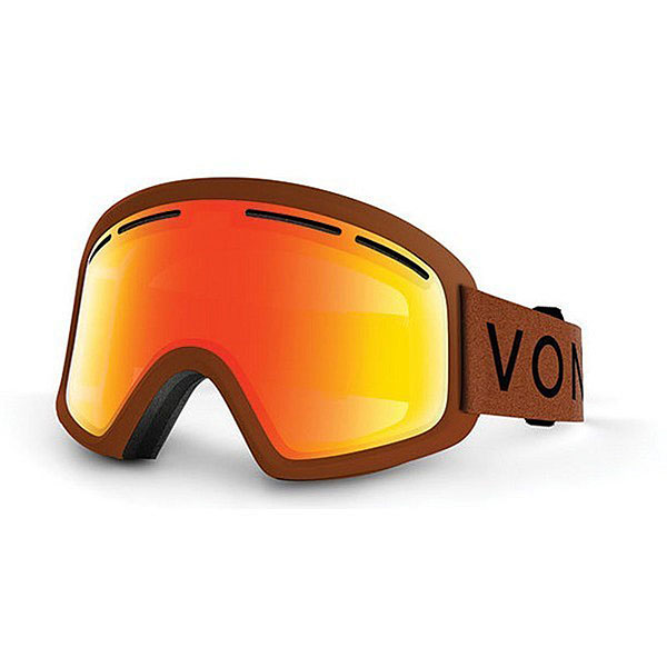 Маска для сноуборда детская Von Zipper Trike Burnt Orange/Fire Chrome
