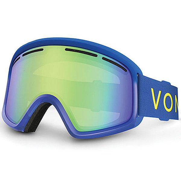 Маска для сноуборда детская Von Zipper Trike Blue Satin/Quasar Chrome anon маска сноубордическая anon somerset pellow gold chrome