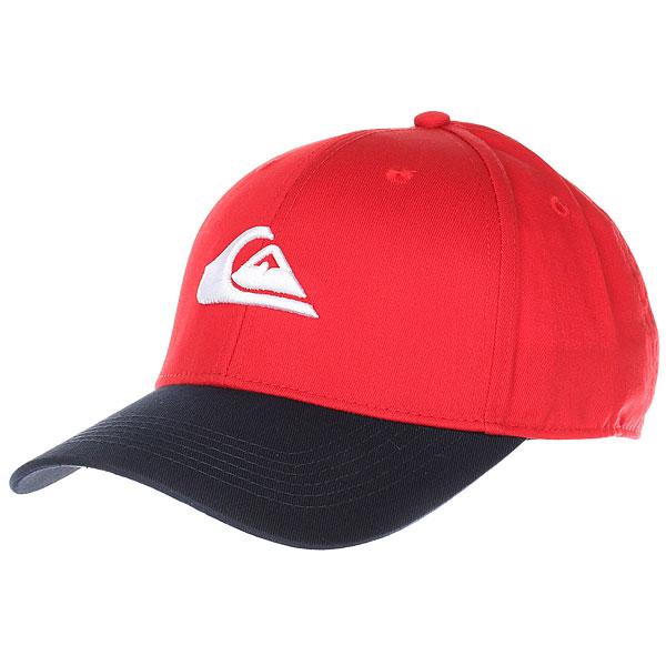 Бейсболка классическая Quiksilver Decades Rio Red<br><br>Цвет: синий,красный<br>Тип: Бейсболка классическая<br>Возраст: Взрослый