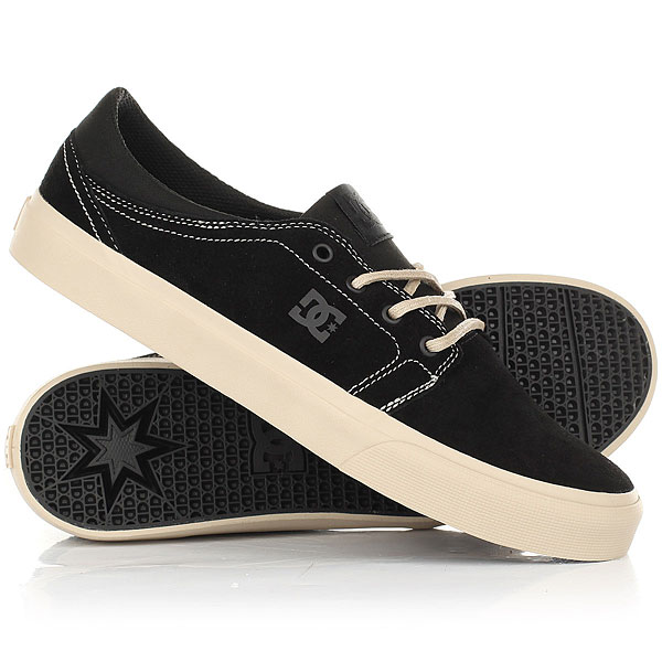 Кеды кроссовки низкие DC Trase Se Black/Tan dc shoes кеды dc council se navy camel 8