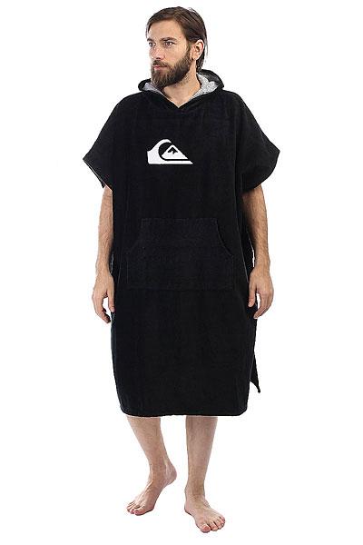 Пончо Quiksilver Hoody Towel Black<br><br>Цвет: черный<br>Тип: Пончо<br>Возраст: Взрослый<br>Пол: Мужской