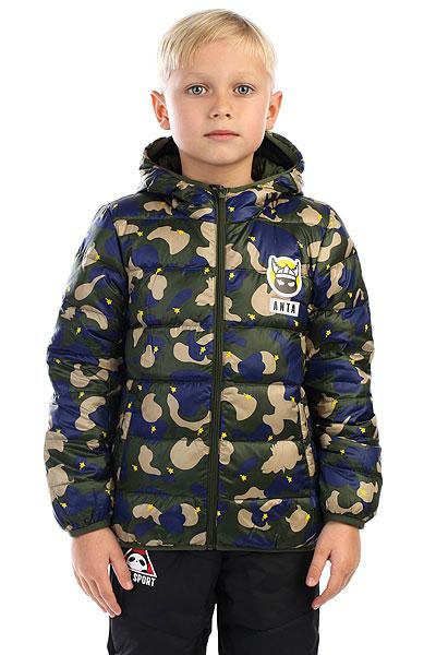 Пуховик детский Anta Зеленый W35749941-2Детская куртка с пуховым утеплителем и капюшоном. Подходит для спорта, активного отдыха и на каждый день.ПРЕИМУЩЕСТВА: Прочная нейлоновая ткань защитит от ветра и влаги.Эргономичный крой не сковывает движений.Удобные карманы для рук и капюшон согреют в холодную погоду.Стеганый дизайн подчеркнет спортивный стиль.<br><br>Цвет: зеленый<br>Тип: Пуховик<br>Возраст: Детский