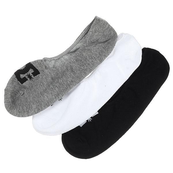 Носки низкие DC Dc Liner 3p Assorted<br><br>Цвет: черный,серый,белый<br>Тип: Носки низкие<br>Возраст: Взрослый<br>Пол: Мужской