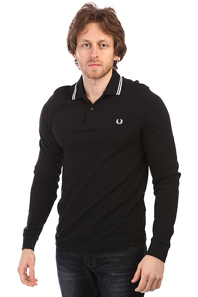 Поло Fred Perry Twin Tipped Shirt Black рубашка поло la martina рубашка поло