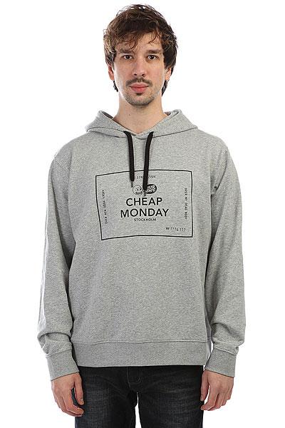 Толстовка классическая Cheap Monday Pullover Hood Box Logo Grey Melange<br><br>Цвет: Светло-серый<br>Тип: Толстовка классическая<br>Возраст: Взрослый<br>Пол: Мужской