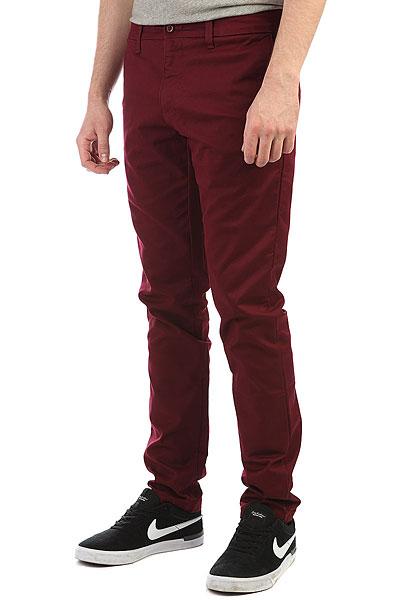 Штаны прямые Carhartt WIP Sid Pant Varnish<br><br>Цвет: бордовый<br>Тип: Штаны прямые<br>Возраст: Взрослый<br>Пол: Мужской
