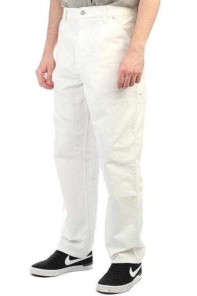 Джинсы прямые Carhartt WIP Single Knee Pant Snow Rinsed<br><br>Цвет: белый<br>Тип: Джинсы прямые<br>Возраст: Взрослый<br>Пол: Мужской
