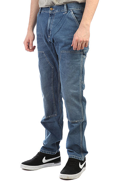 Джинсы прямые Carhartt WIP Ruck Double Knee Pant Blue (True Stone)