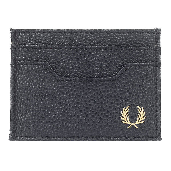 Визитница Fred Perry Scotch Grain Card Holder Black p 14050