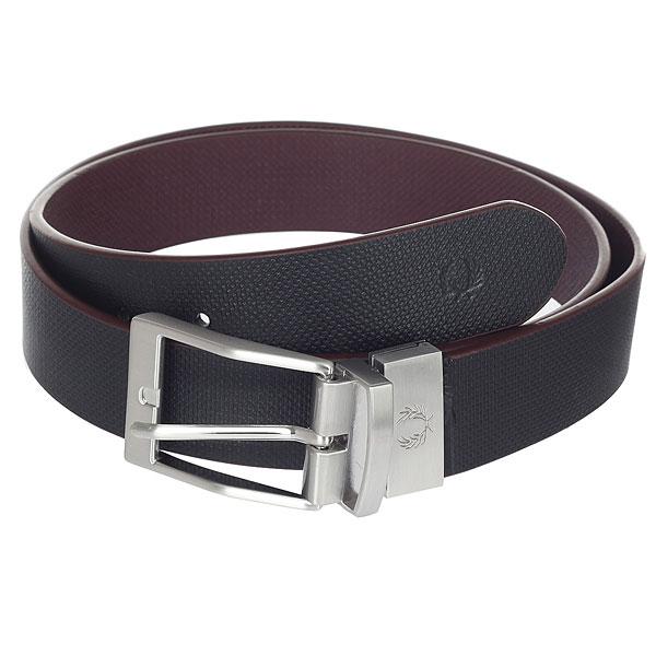 цена Ремень Fred Perry Textured Reversible Belt Black/Burgundy онлайн в 2017 году