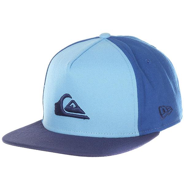 Бейсболка с прямым козырьком Quiksilver Stuckles Snap Dusk Blue бейсболка с прямым козырьком quiksilver aquablunt light grey heather
