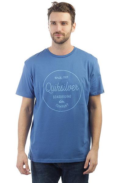 Футболка Quiksilver Clmornslides Bright Cobalt<br><br>Цвет: синий<br>Тип: Футболка<br>Возраст: Взрослый<br>Пол: Мужской