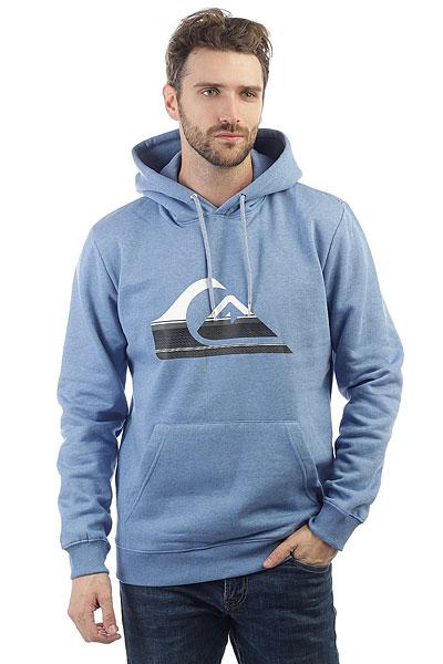 Толстовка кенгуру Quiksilver Big Logo Hood Bright Cobalt Heathe толстовка кенгуру quiksilver keller hood wild ginger