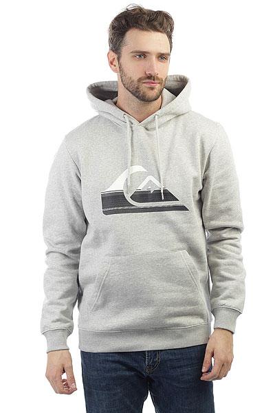 Толстовка кенгуру Quiksilver Big Logo Hood Light Grey Heather пергаментная бумага