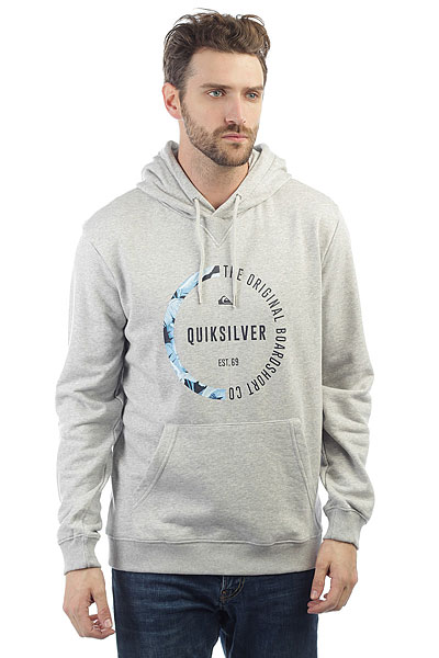 Quiksilver Revengehood Light Grey Heather футболка quiksilver baysicpocket light grey heather