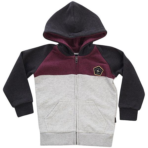 Толстовка классическая детская Quiksilver Sunmeltby Dark Grey Heather футболка quiksilver baysicpocket light grey heather