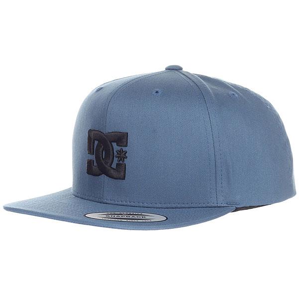 Бейсболка с прямым козырьком DC Snappy Blue Mirage<br><br>Цвет: синий<br>Тип: Бейсболка с прямым козырьком<br>Возраст: Взрослый
