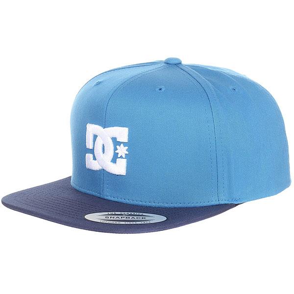 Бейсболка с прямым козырьком DC Snappy Campunula<br><br>Цвет: синий<br>Тип: Бейсболка с прямым козырьком<br>Возраст: Взрослый