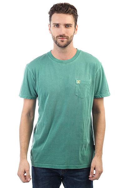 Футболка DC Dyed Pocket Cre Deep Sea<br><br>Цвет: зеленый<br>Тип: Футболка<br>Возраст: Взрослый<br>Пол: Мужской