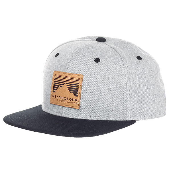 Бейсболка с прямым козырьком WearColour Badge Grey Melange<br><br>Цвет: серый,черный<br>Тип: Бейсболка с прямым козырьком<br>Возраст: Взрослый