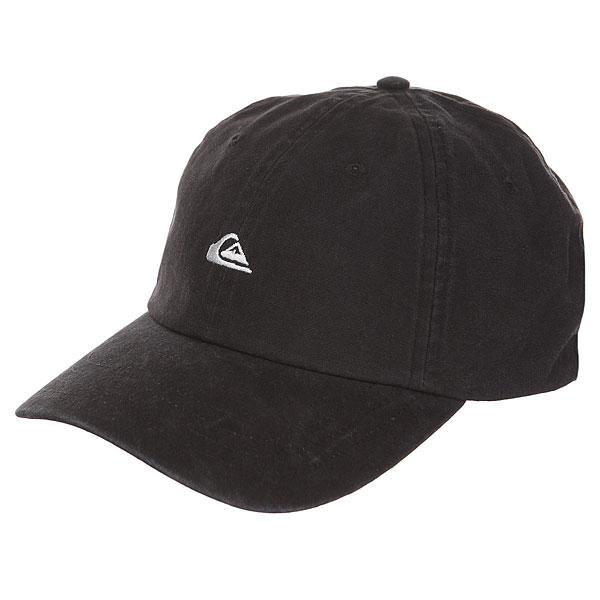 Бейсболка классическая Quiksilver Papa Cap Black<br><br>Цвет: черный<br>Тип: Бейсболка классическая<br>Возраст: Взрослый