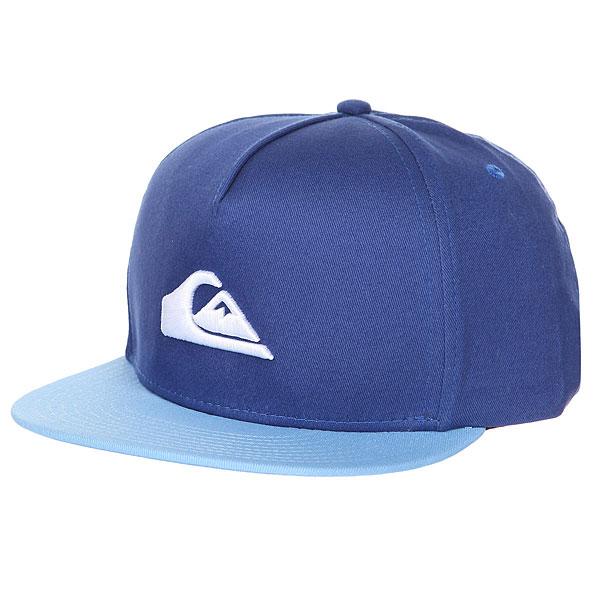 Бейсболка с прямым козырьком детская Quiksilver Stuckles Snap Bright Cobalt<br><br>Цвет: синий,голубой<br>Тип: Бейсболка с прямым козырьком<br>Возраст: Детский
