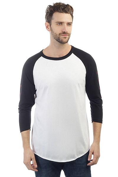 Лонгслив Independent Shred Raglan 3/4 White/Black<br><br>Цвет: черный,белый<br>Тип: Лонгслив<br>Возраст: Взрослый<br>Пол: Мужской