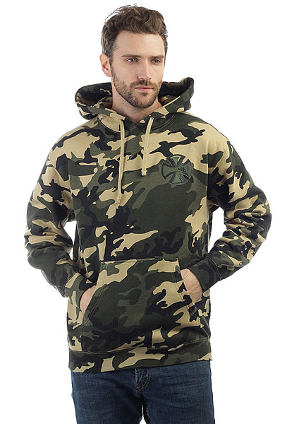 Толстовка кенгуру Independent Concealed Pullover Hooded Camo толстовка кенгуру fallen brooklyn pullover hood forest green