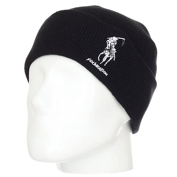 Шапка Foundation Polo Reaper Beanie Black<br><br>Цвет: черный<br>Тип: Шапка<br>Возраст: Взрослый<br>Пол: Мужской